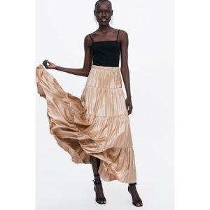 Zara gold skirt